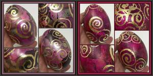 Enamel Painted Goose Eggs