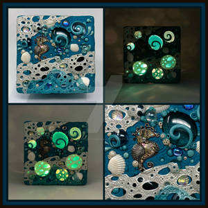 Nightlight made of Polymer Clay and Glass