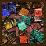 Lumiere Luster Dichroic Metals on Polymer Clay