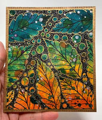 Impressionist Leaf Painting