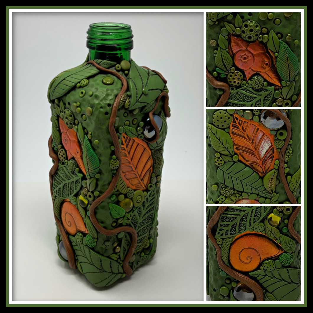 Copper and Clay Bottle Vase