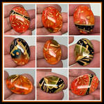 Tangerine Glass Cabochons