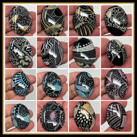 Zentangle Cabochon Group 1