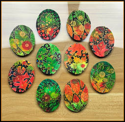 Pen and Ink Art for Cabochons