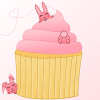 How do you turn a bunny pink?