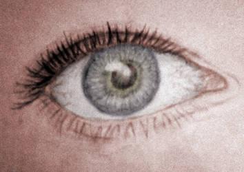 Eye Study Sketch - Colored