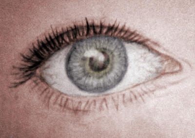 Eye Study Sketch - Colored by queenofwords