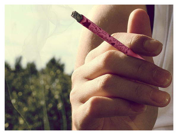 pink cigarette by hello-or-goodbye