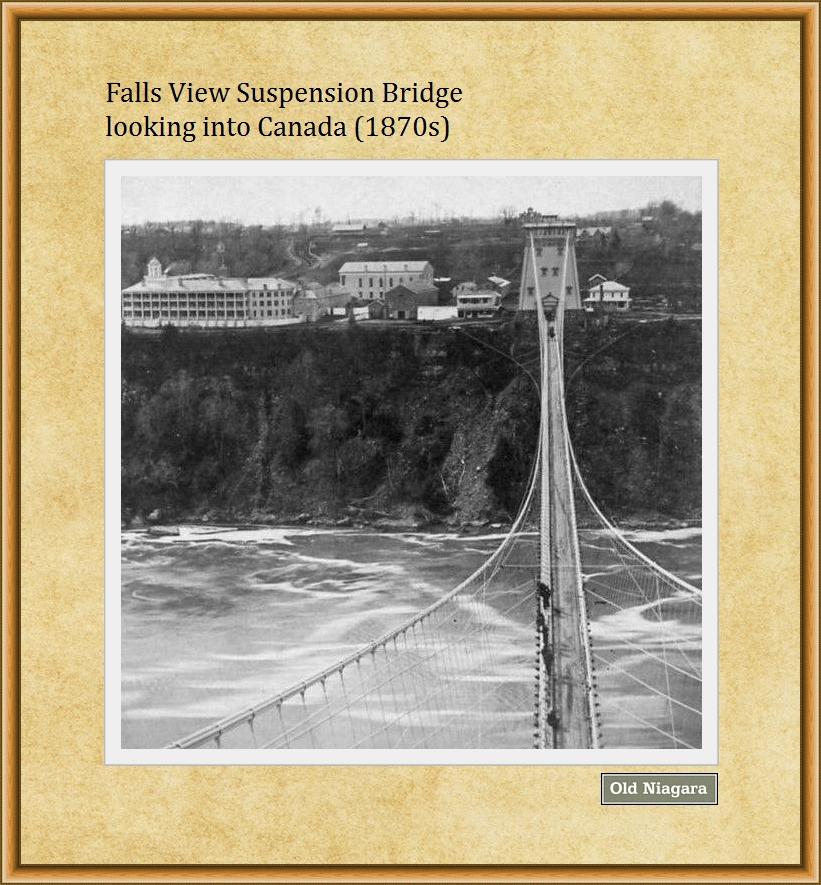 Falls View Suspension Bridge (1870s) by Niagara14301