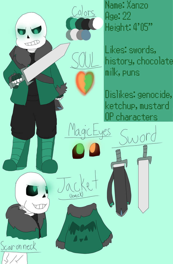 Xanzo Reference Sheet by RavageSans on DeviantArt