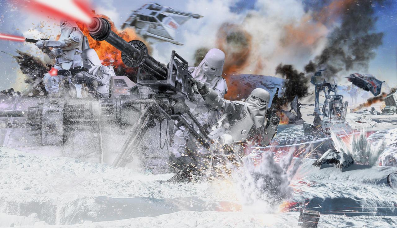 Star Wars Battle Backgrounds: Star Wars: Battle Of Hoth Frontline By TDSOD On DeviantArt
