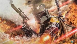 Star Wars - Boba Fett firefight