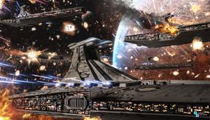 Star Wars - Venator fleet battle
