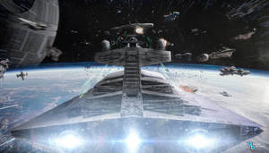 Star Wars - Star Destroyer Devastator Scarif