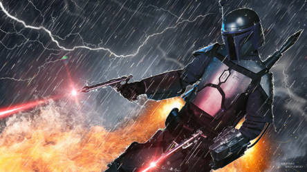 Jango Fett Jetpack Action by TDSOD