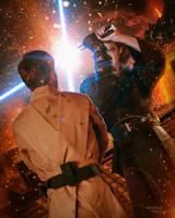 Anakin vs. Obi-Wan on Mustafar by TDSOD