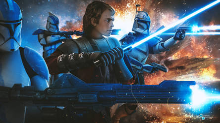 Anakin Skywalker and the 501st (early Clone Wars)