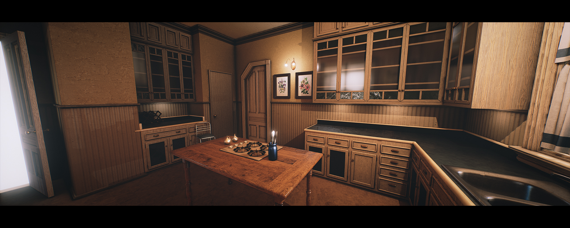Charmed house halliwell manor polycount for Charmed house blueprints