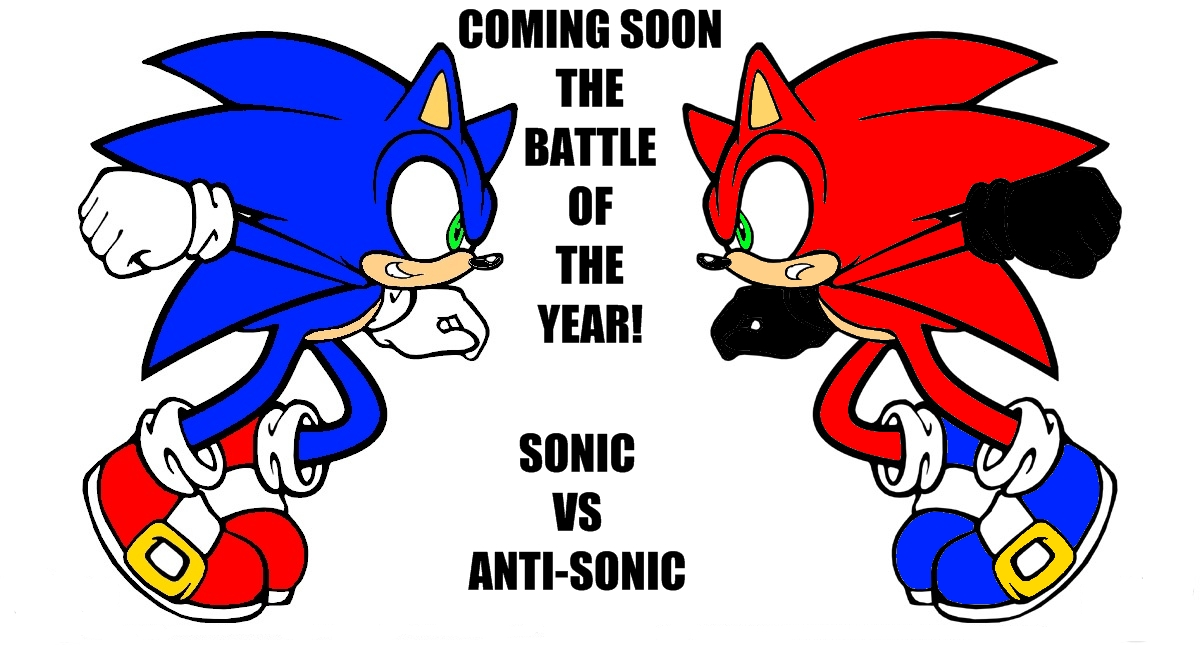 Sonic VS Anti-Sonic by SuperSonicX5000 on DeviantArt: supersonicx5000.deviantart.com/art/Sonic-VS-Anti-Sonic-114973844