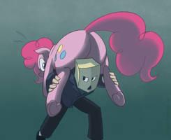 Too many cupcakes, Pinkie! by Cybikum
