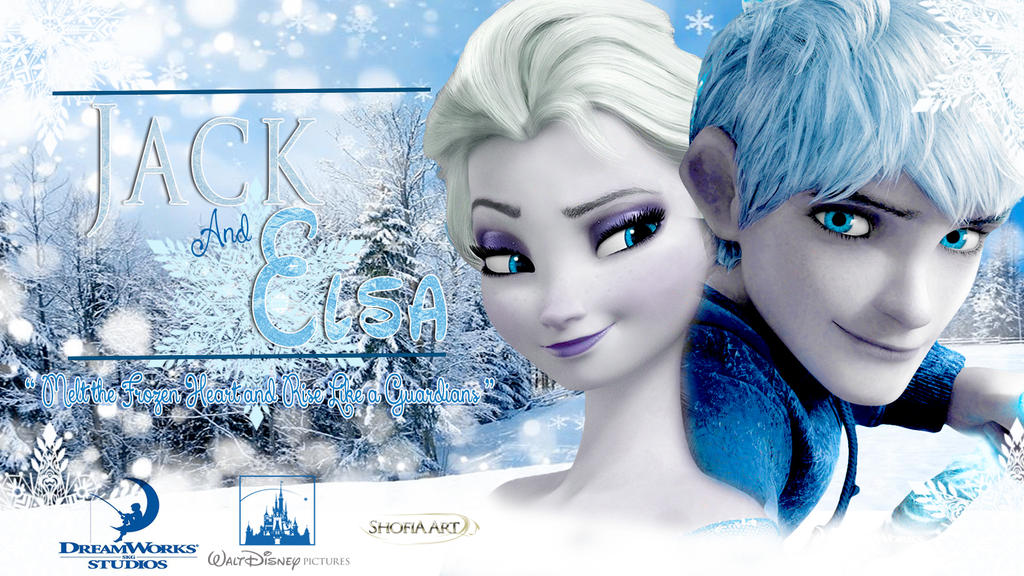 jelsa jack frost and elsa wallpaper by shofiakim13 on