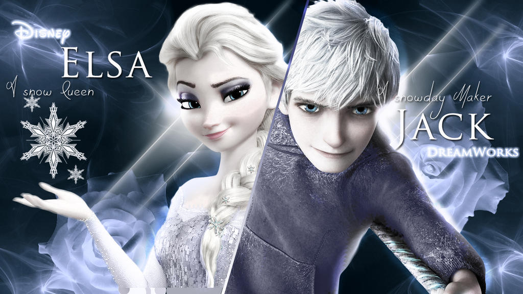 jelsa jack frost and elsa wallpaper 2 by shofiakim13 on
