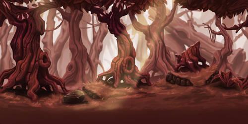 Gloomy forest by AdrienMTZ