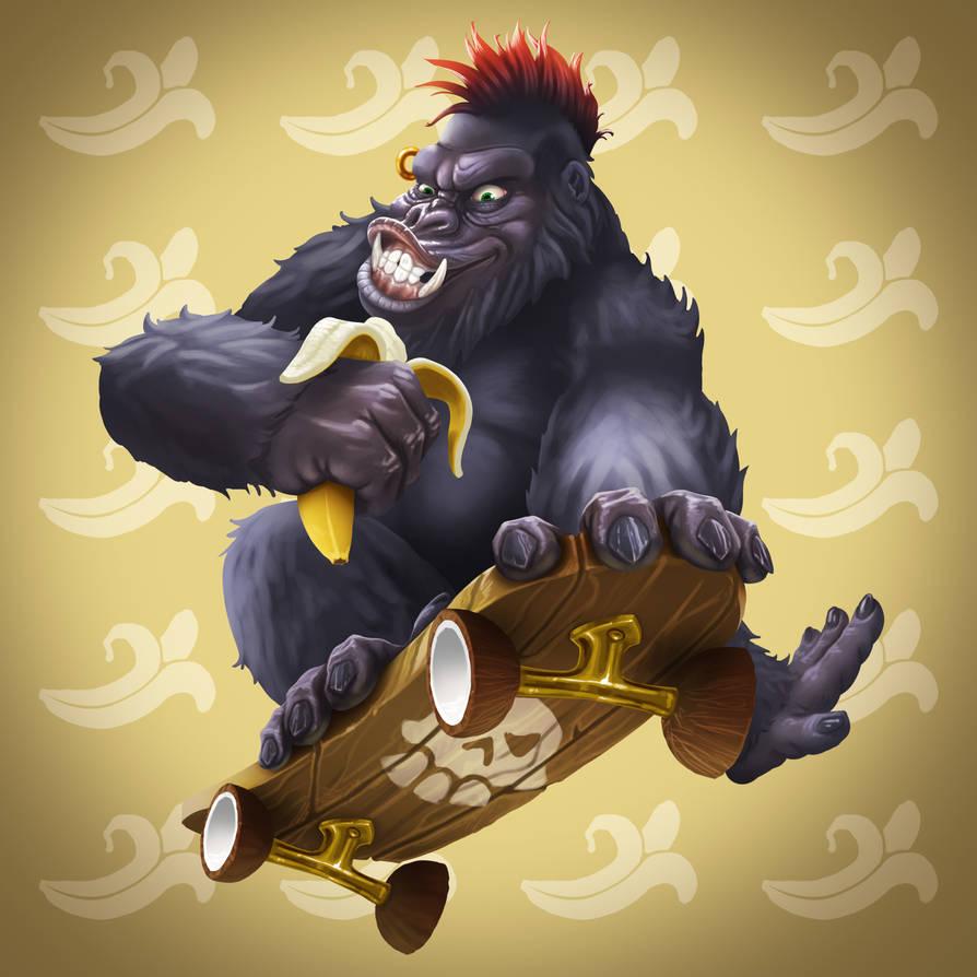 Skater Gorilla by AdrienMTZ
