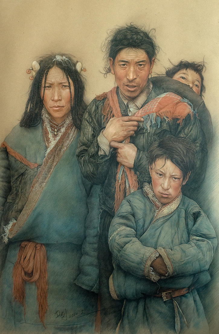 Tibetan family by william690c