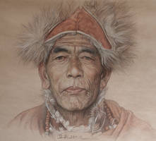 Portrait of tibetan sorcerer