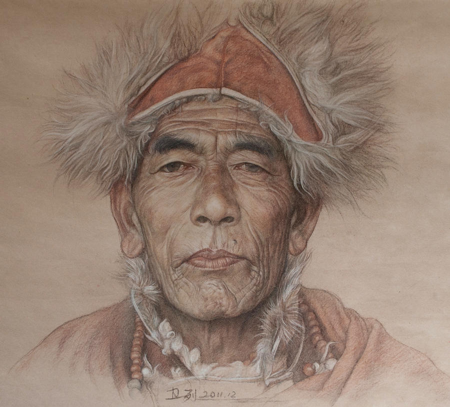 Portrait of tibetan sorcerer by william690c