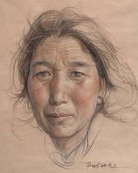 Portrait of tibetan women