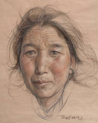 Portrait of tibetan women