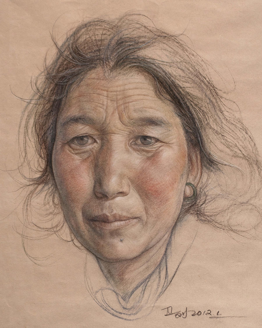 Portrait of tibetan women by william690c