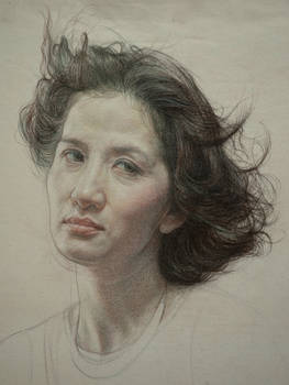 Portrait of woman(Unfinished)