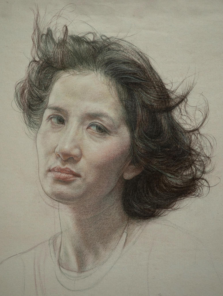 Portrait of woman(Unfinished) by william690c