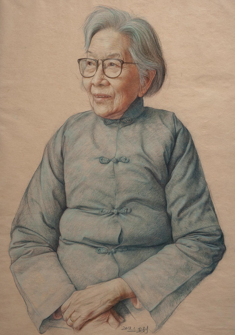 Portrait of old woman by william690c