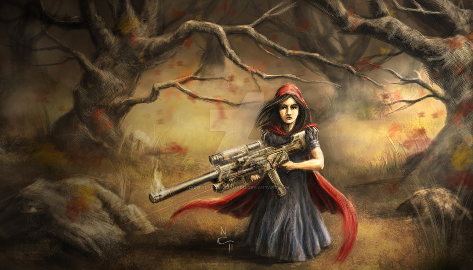 Little Red Riding Hood by digitalartaficianado