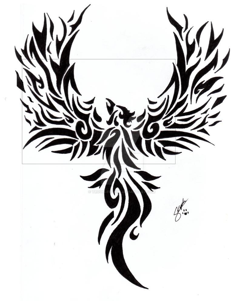 tribal phoenix tattoo by troublestripe on deviantart rh deviantart com tribal phoenix tattoo designs tribal phoenix tattoo images