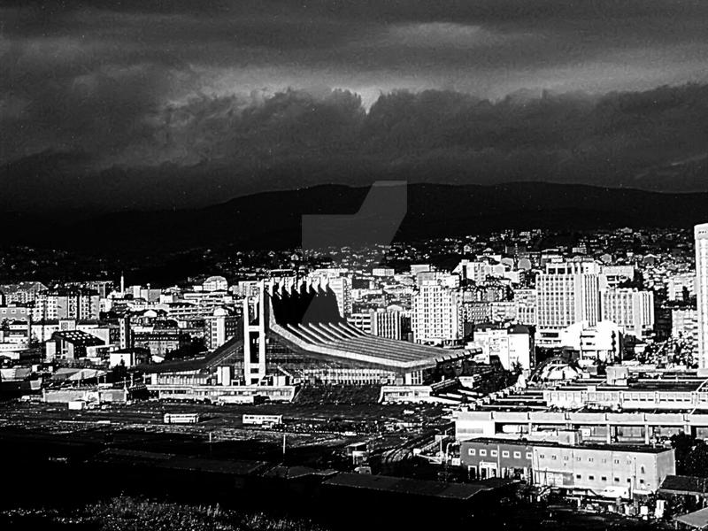 prishtina sunset bw by rockscorp
