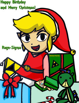 Happy Birthday and Merry Christmas 2017 by Hylian-Socks