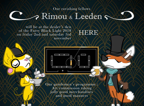 Where to find Rimou and Leeden at FBL 2018