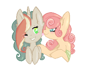 Pastel and Sandy by MissMagicalWolf