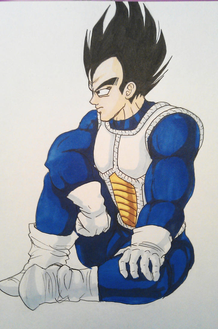 Vegeta Sitting by shadesoflove