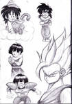 Gohan Sketches 1 by shadesoflove