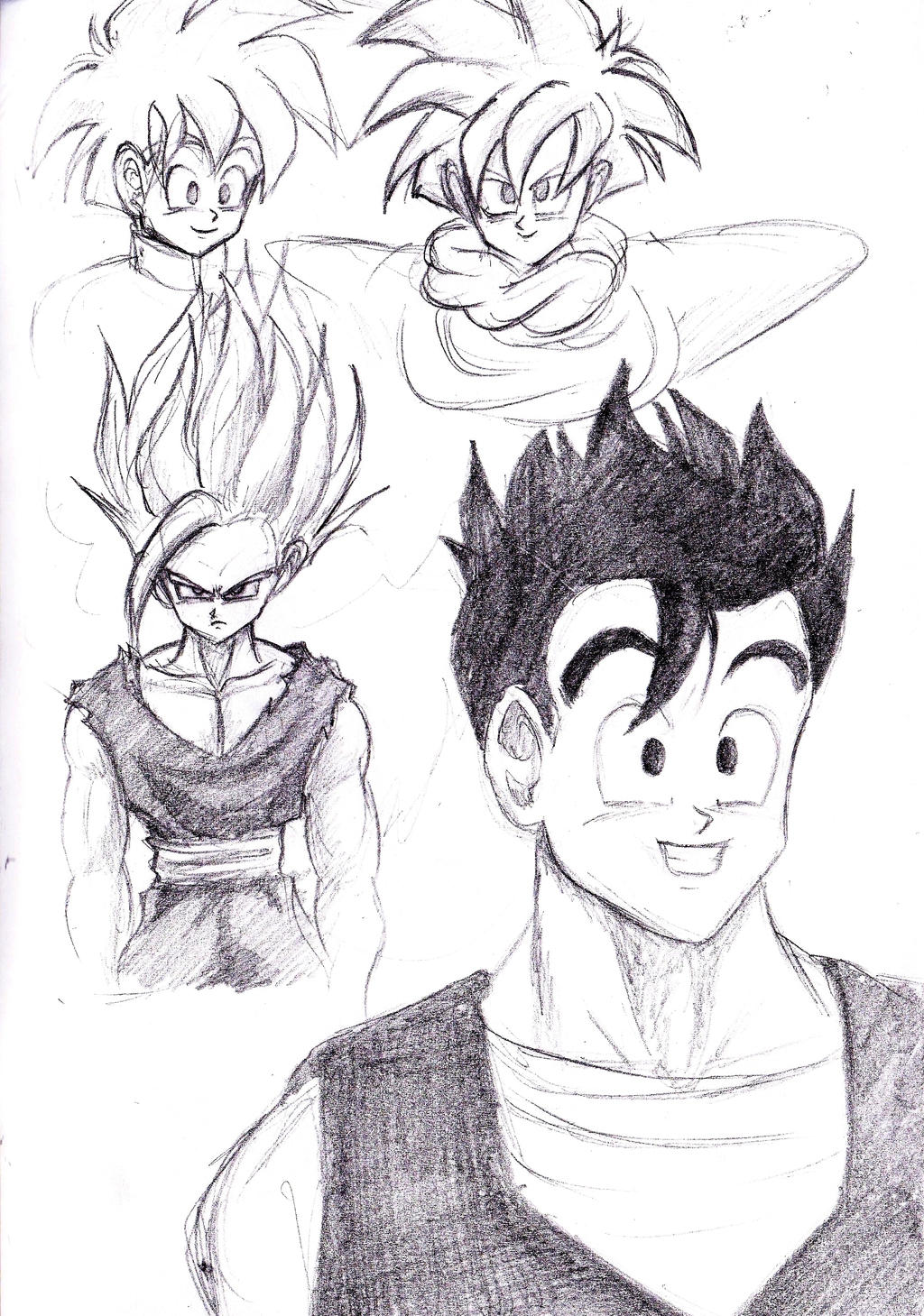 Gohan Sketches 2 by shadesoflove