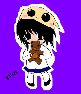 L and Teddy bear by KiwiMelonSan