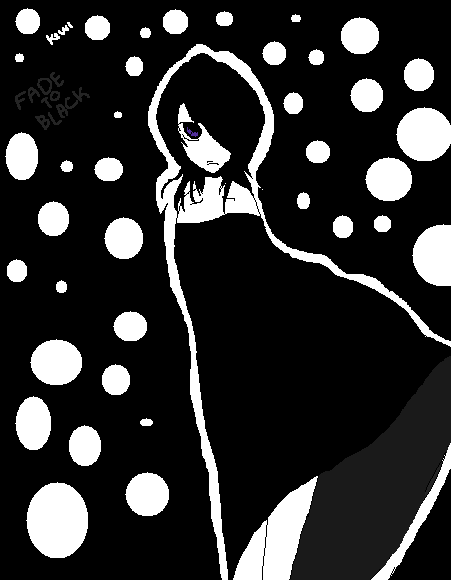 Rukia Kuchiki + FADE TO BLACK by KiwiMelonSan