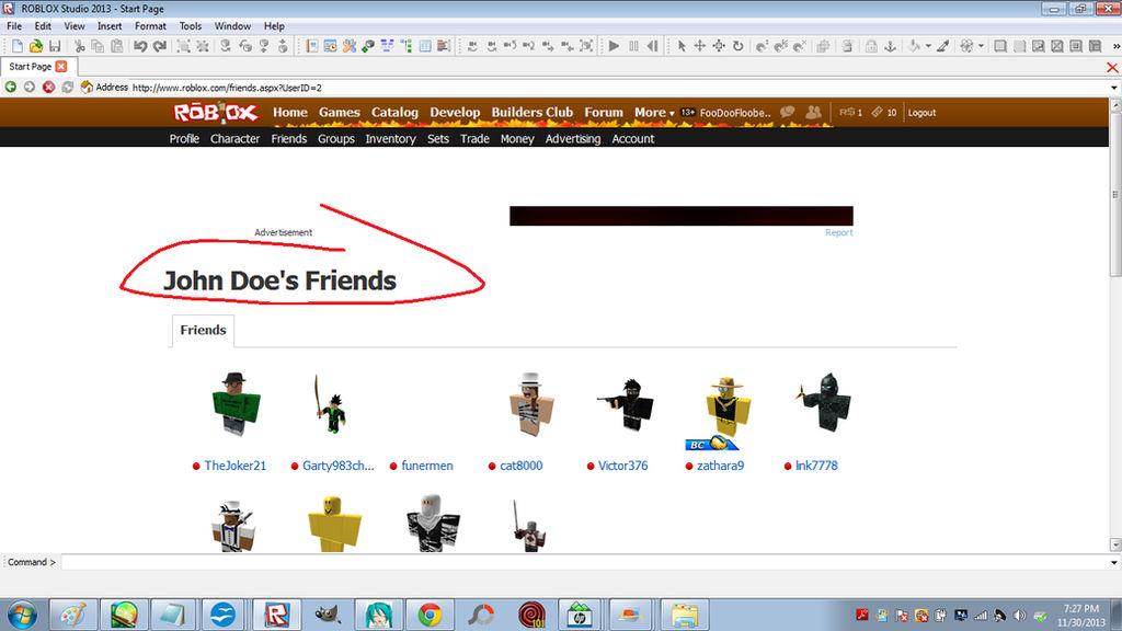 Roblox John Doe S Friends List By Kanethecat On Deviantart