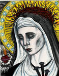 Our Lady of Sorrows -Colored-